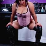 Kimberly Scott has a little fun in the kitchen