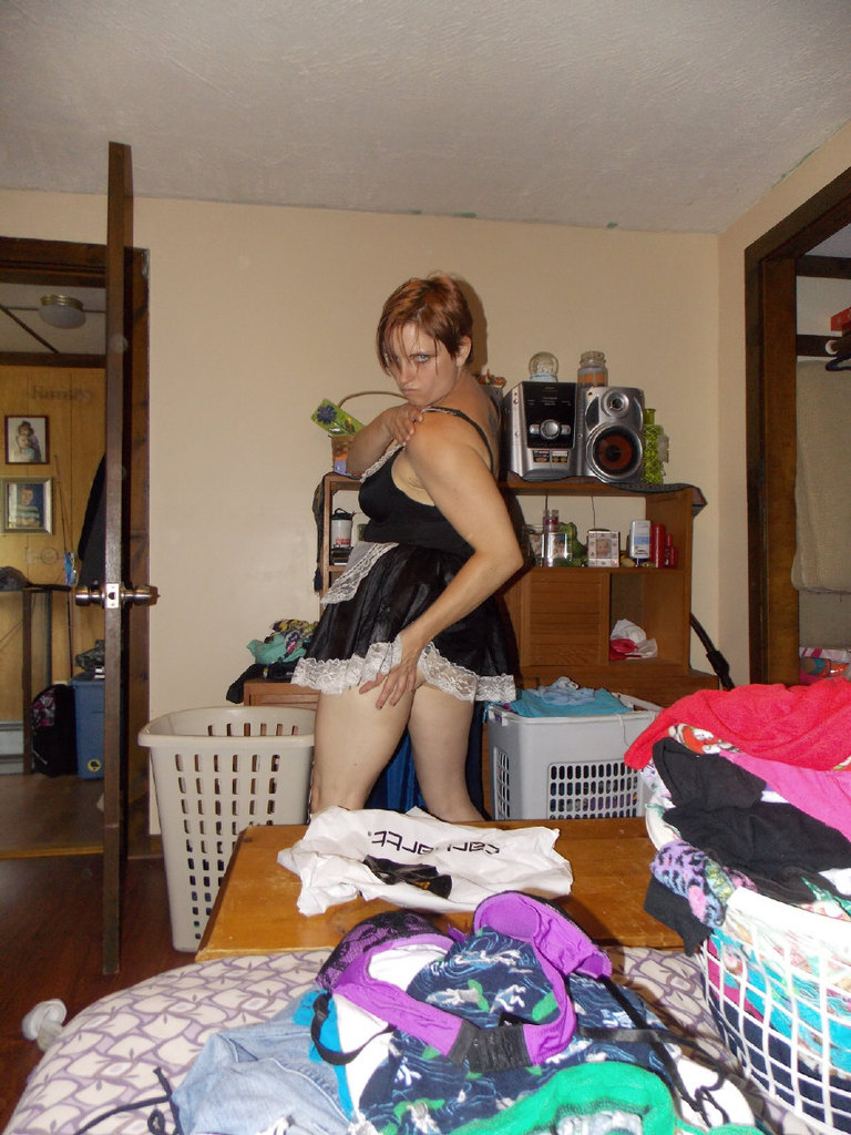 House maid gets caught being a piggy at work 6