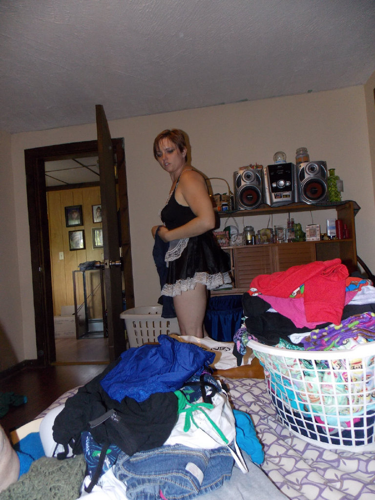 House maid gets caught being a piggy at work 7