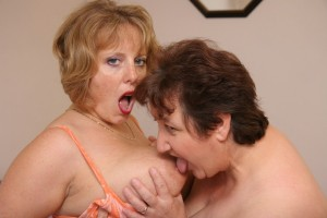 Two mature housewives have fun