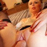 Dirty slut wife gets her moist pussy fingered
